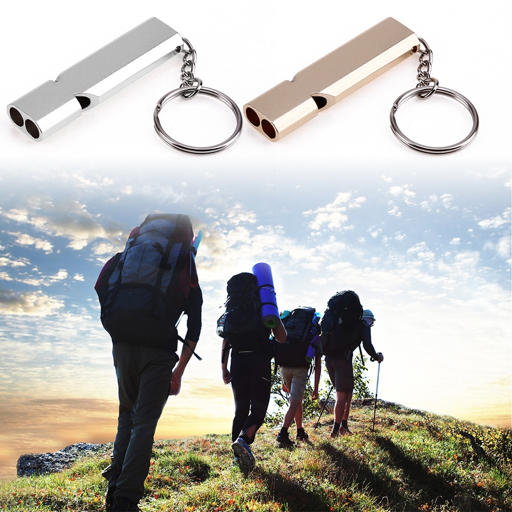 150db Double Pipe High Decibel Survival Whistle Keychain